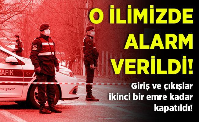 O ilimizde alarm verildi! Bir sokaktaki 27 ev karantina altına alındı!