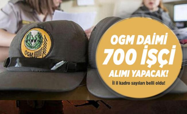 OGM daimi 700 işçi alımı yapacak! İl il kadro sayıları belli oldu! OGM personel alımı