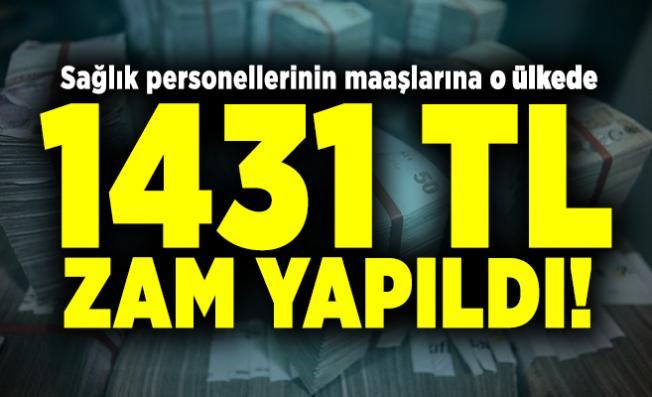 Sağlık personellerinin maaşlarına o ülkede 1431 TL zam yapıldı!