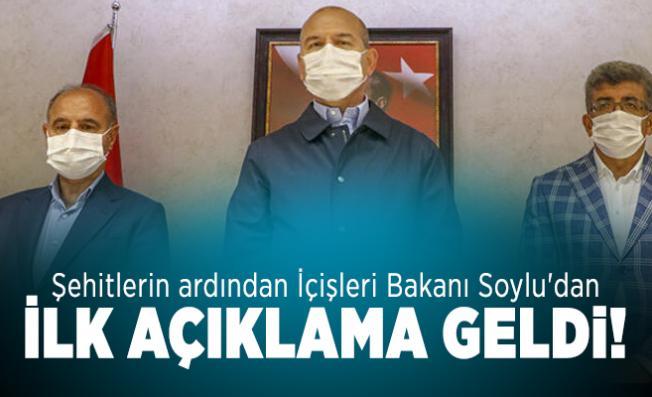 Şehitlerin ardından İçişleri Bakanı Soylu'dan ilk açıklama geldi!