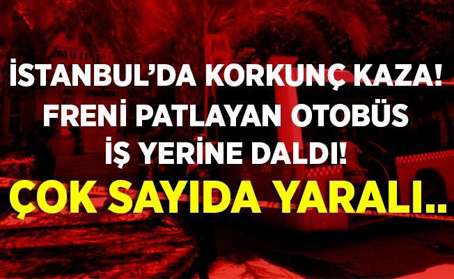 Son dakika Kadıköy'de korkunç kaza! Freni patlayan otobüs iş yerine daldı! Çok sayıda yaralı..