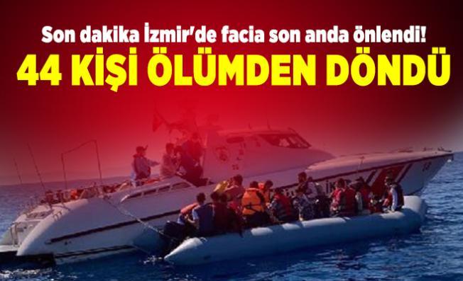 Son dakika İzmir'de facia son anda önlendi! 44 kişi ölümden döndü