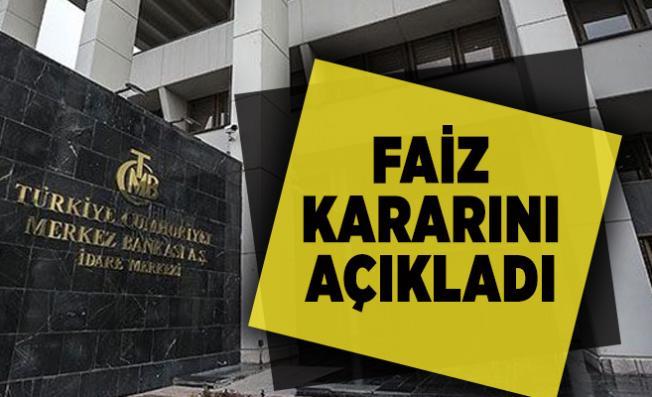 Son dakika Merkez Bankası faiz kararını açıkladı
