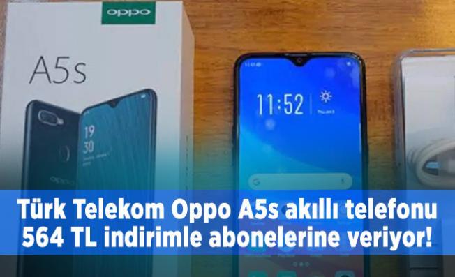 Türk Telekom Oppo A5s akıllı telefonu 564 TL indirimle abonelerine veriyor!