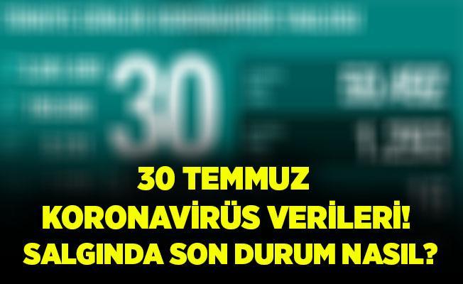 Türkiye 30 Temmuz koronavirüs tablosu! Vaka sayısı..