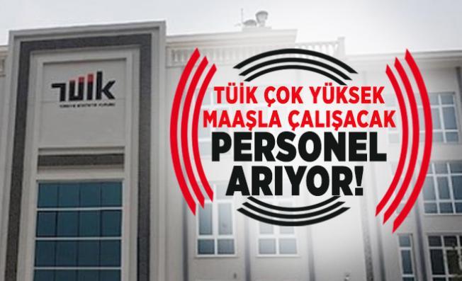 Türkiye İstatistik Kurumu (TÜİK) çok yüksek maaşla çalışacak personel arıyor!
