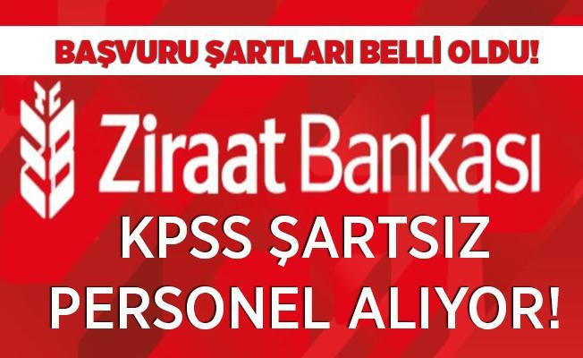 Ziraat Bankası KPSS'siz personel alımı yapıyor! Başvuru şartları belli oldu!
