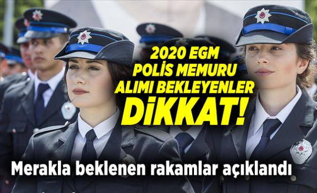 2020 EGM Polis memuru alımı bekleyenler dikkat! Merakla beklenen rakamlar açıklandı