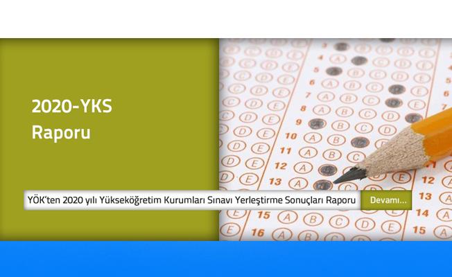 2020 Yılı YÖK Sınavı Yerleştirme Sonuçları Raporu