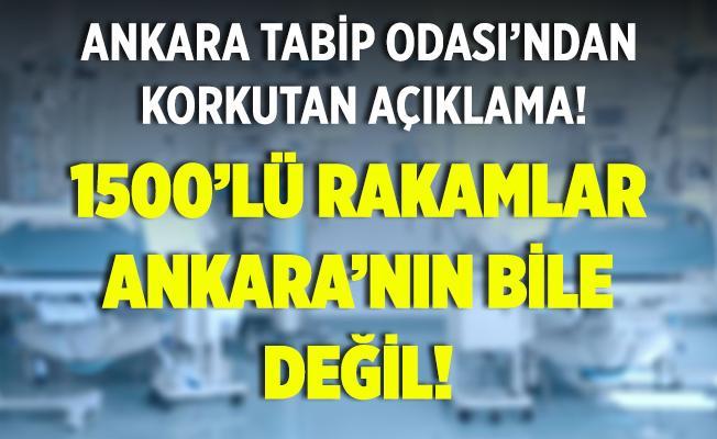 Ankara Tabip Odası'ndan korkutan açıklama! 1500'lü rakamlar Ankara'nın rakamı bile değil!