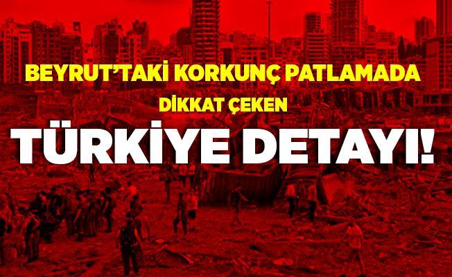 Beyrut'taki korkunç patlamada flaş Türkiye detayı! Bakan açıkladı!