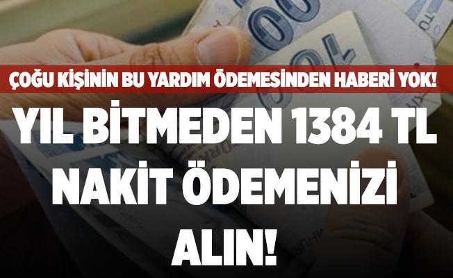 Çoğu kişinin bu ödemeden haberi yok! Yıl bitmeden 1384 TL nakit ödemenizi alın! Başvuru için kimlik yeterli!