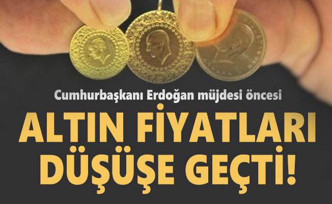 Cumhurbaşkanı Erdoğan müjdesi öncesi altın fiyatları düşüşe geçti! 21 Ağustos altın fiyatlarında son durum!