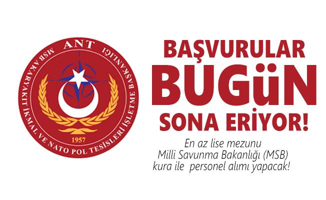 En az lise mezunu Milli Savunma Bakanlığı (MSB) kura ile  personel alımı yapacak! Başvurular bugün sona eriyor!