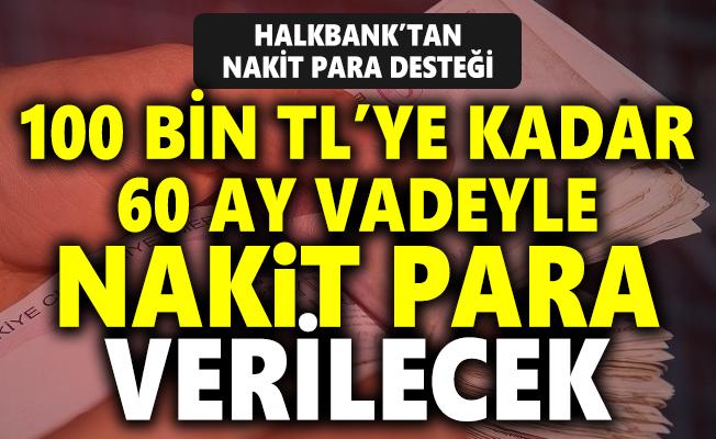 Halkbank'tan özel sektörde çalışanlara müjde! 100 bin TL'ye kadar nakit para desteği verilecek!