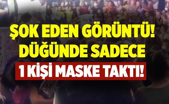İzmir'de şoke eden görüntü! Düğünde sadece 1 kişi maske taktı! Düğün sahibine ceza kesildi!