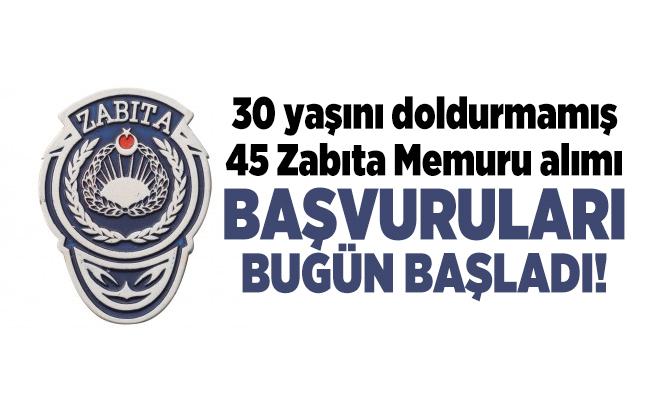 Kocaeli Gebze Belediye Başkanlığı 30 yaşını doldurmamış 45 Zabıta Memuru alımı başvuruları bugün başladı!