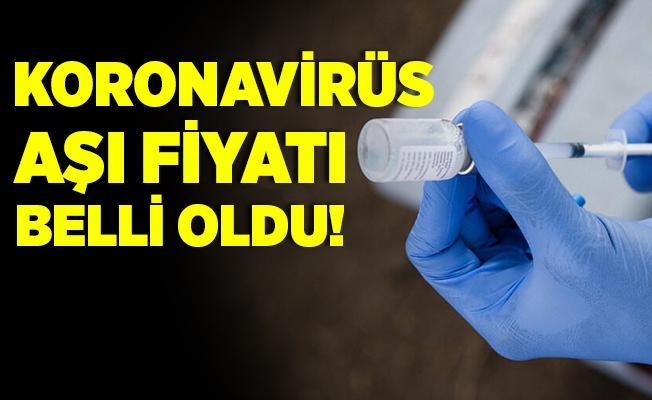 Koronavirüs aşısında yeni gelişme! Fiyatı belli oldu!