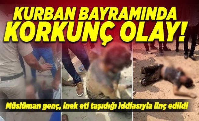 Kurban Bayramında korkunç olay! Müslüman genç, inek eti taşıdığı iddiasıyla linç edildi