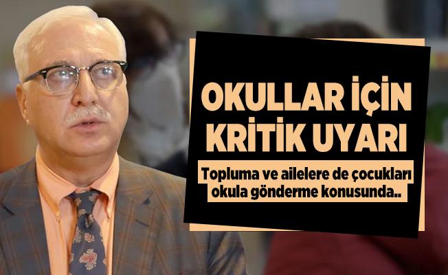 Okullar için Koronavirüs Bilim Kurulu üyesi Özlü'den kritik uyarı!