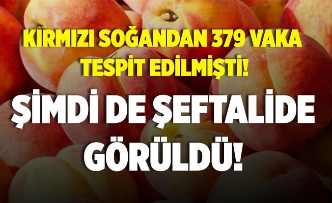 Önce kırmızı soğan şimdi de şeftalilerde Salmonella virüsü!