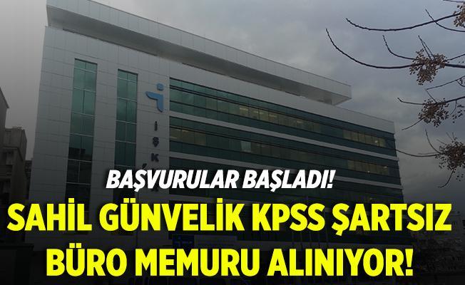 Sahil Güvenlik KPSS şartsız büro memuru alıyor! Başvurular başladı!