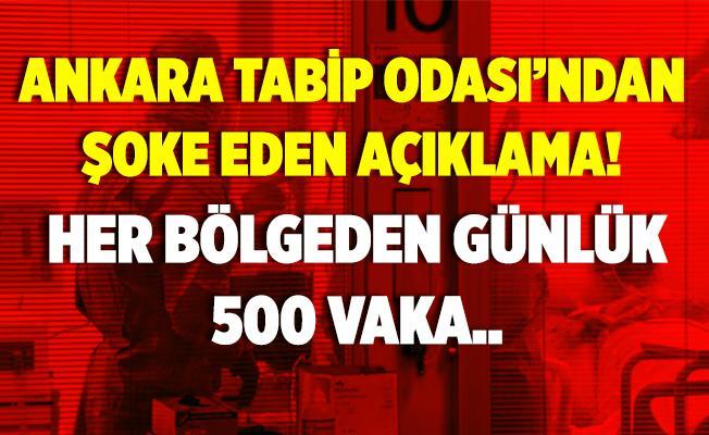 Ankara Tabip Odası'ndan şoke eden açıklama! Her bölgeden günlük 500 vaka..