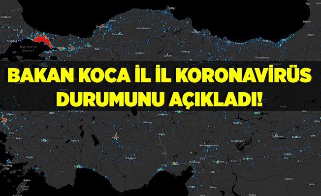 Bakan Koca il il koronavirüs vaka durumunu açıkladı! Ankara, İstanbul, Konya..