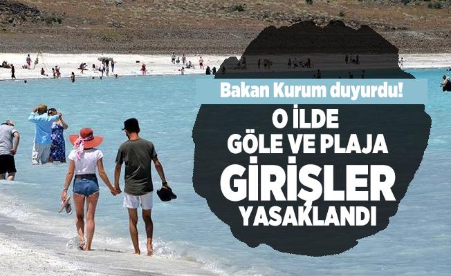 Bakan Murat Kurum duyurdu! 15 Ekim itibarıyla Salda Gölü'nün Beyaz Adalar bölgesindeki göle ve plaja girişler yasaklandı