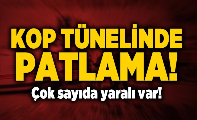 Bayburt - Erzurum karayolu üzerinde Kop tünelinde patlama! Çok sayıda yaralı var!