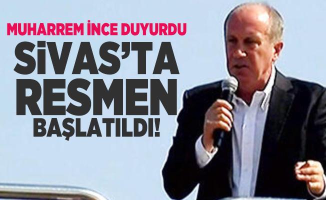 Bin Günde Memleket Hareketi'ni Muharrem İnce Sivas'ta resmen başlattı!