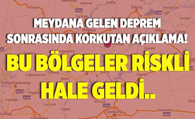 Bugün Malatya'da meydana gelen deprem sonrasında uzman isimden korkutan uyarı! Bu bölgeler riskli hale geldi!