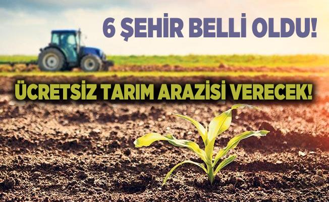 Çevre ve Şehircilik Bakanlığı ücretsiz tarım arazisi verecek! 6 şehir belli oldu!
