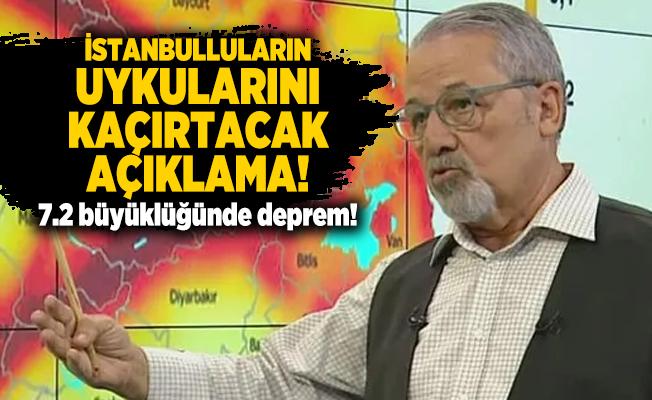 Deprem Uzmanından İstanbulluların uykularını kaçırtacak açıklama! 7.2 büyüklüğünde deprem!