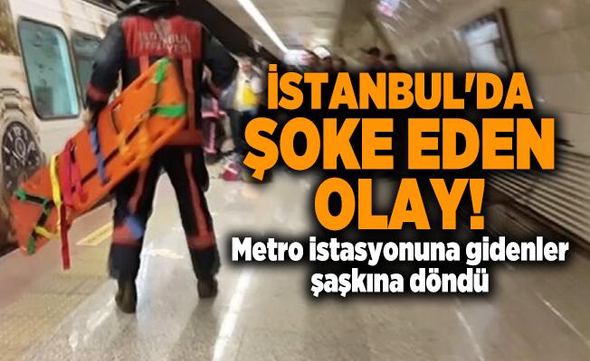 İstanbul'da şoke eden olay! Metro istasyonuna gidenler şaşkına döndü