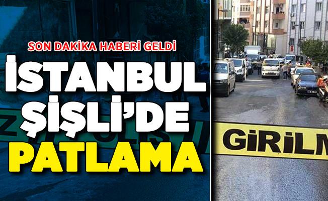 İstanbul Şişli'de Patlama ! Çok Sayıda Ekip Sevk Edildi