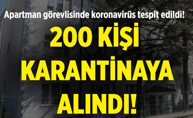 Kabus büyümeye devam ediyor! Apartman görevlisinde virüs çıkınca 200 kişi birden karantinaya alındı!