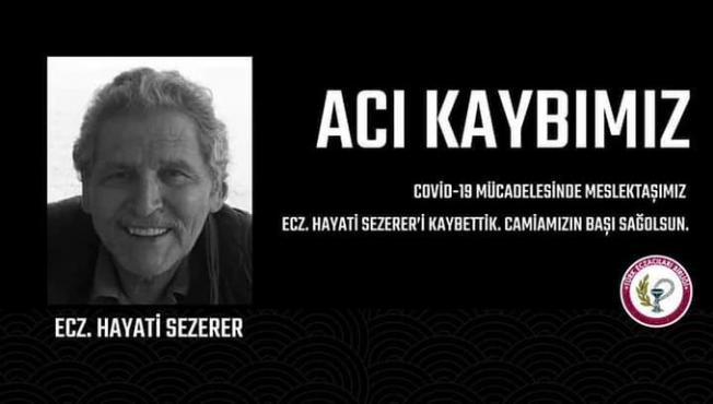 Karaman'da hizmet veren eczacı Hayati Sezerer Covid-19 enfeksiyonu nedeniyle hayatını kaybetti!