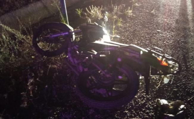 Manisa'nın Kula ilçesinde motosiklet kazası! 1 kişi hayatını kaybetti