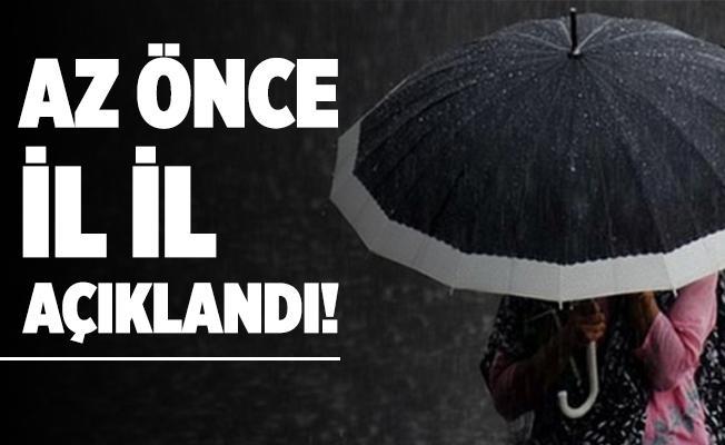 Meteoroloji hava durumu tahminlerini açıkladı! O illerimize şiddetli sağanak yağış geliyor!
