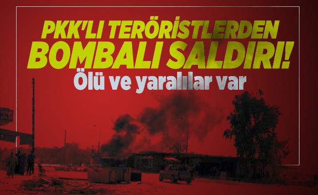 PKK'lı teröristlerden bombalı saldırı! Ölü ve yaralılar var