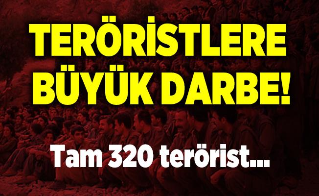 Teröristlere büyük darbe! 320 PKK'lı terörist etkisiz hale getirildi!