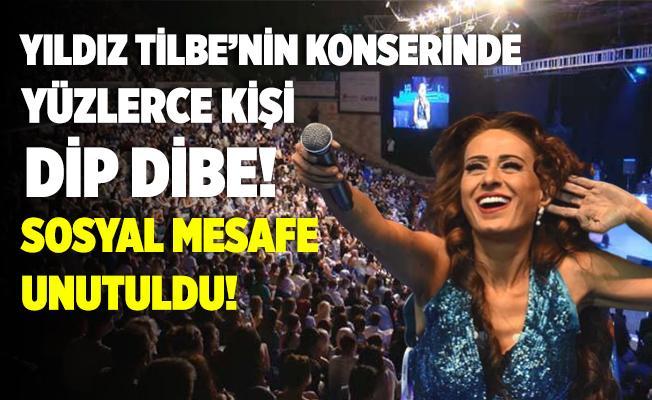 Yıldız Tilbe'nin konserinde yüzlerce kişi dip dibe! Maskeler takıldı, sosyal mesafe unutuldu! Önemli olan insanların eğlenmesi!