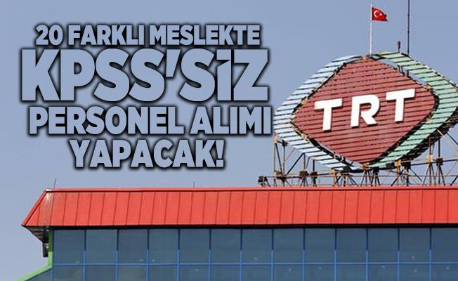 20 farklı meslekte TRT KPSS'siz personel alımı yapacak! Editör, Grafiker, Sosyal Medya Prodüktörü...