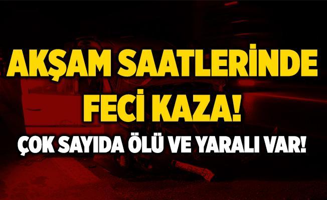 Adana'da feci kaza! Çok sayıda ölü ve yaralı var!