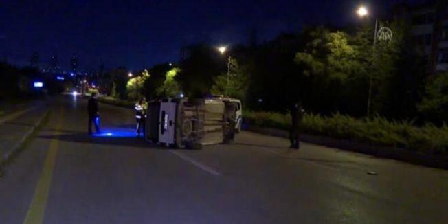 Ankara'da akılalmaz kaza! Biri ağır, yaralılar var