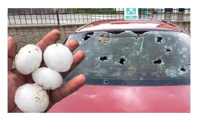 Araçları doludan hasar görenler için sevindiren haber! 5 gün içinde sigorta şirketinize başvurun!