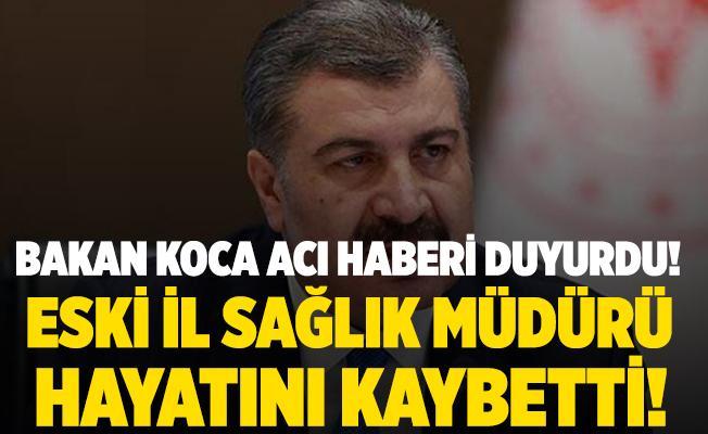 Bakan Koca acı haberi az önce duyurdu! Eski Sağlık Müdürü hayatını kaybetti! Dr. Mehmet Bakar kimdir?