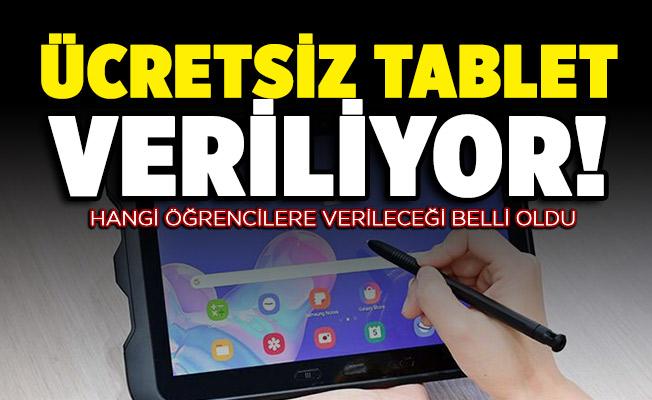 Bakan Selçuk hangi öğrencilere ücretsiz tablet verileceğini açıkladı