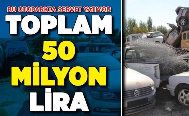 Bu Otoparkta 500'e Yakın Araba Var ! Değerli 50 Milyon Lira